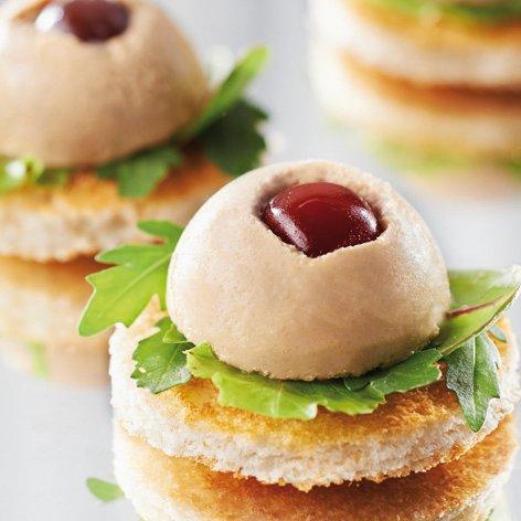 Griottines® en mini-bombe foie gras