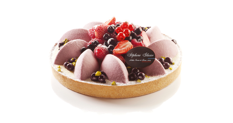 Tarte cheese cake Cassis fruits rouges