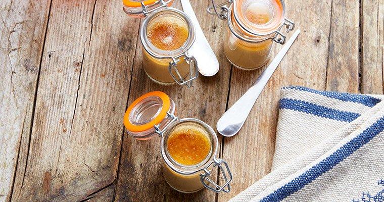 Crème brûlée au Foie gras de Canard et gelée Golden Eight®
