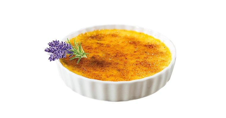 Crème brûlée, miel et Liqueur de Lavande Garden Party®