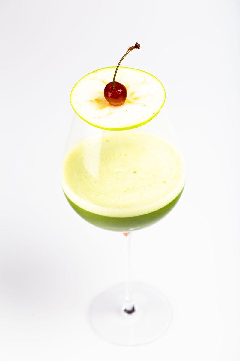 Liqueur Pomme Gingembre, glaçons de « Citron Griottines® »