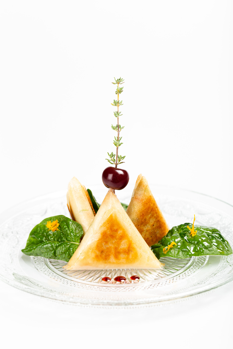 Samossas de volaille au curry et Griottines®