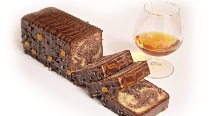 Cake marbré chocolat-orange, imbibé au sirop Dom Pacello Royal Orange® Gold